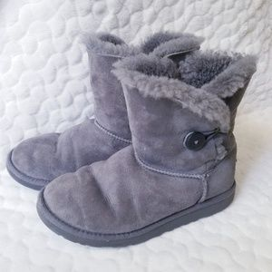 Ugg Bailey button boots sheepskin warm winter grey